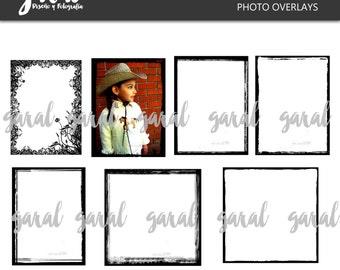 Grunge Frames kit 4, frames overlays, photoshop overlays, photoshop overlays, grunge overlay, 7 png pack