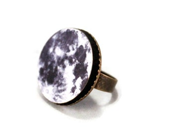 Moon Science Galaxy Planet Ring Solar System - Adjustable