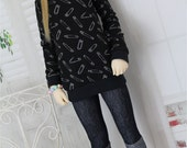 Cuffed Jeans leggings for SD BJD, 1/3 Clothes, Pants Jeggings
