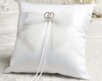 Rhinestone Rings Wedding Ring Bearer Pillow - 75330