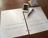 Weekly Hourly Perpetual Planner- Editable Digital Download
