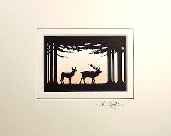Deer Hand-Cut Papercut