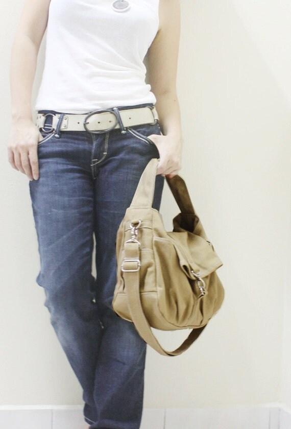 Back To School SALE - 20% OFF Mini Classic in Khaki / Sling bag  / Crossbody / Hobo / Handbags / Purses / For Her / Women / Kids