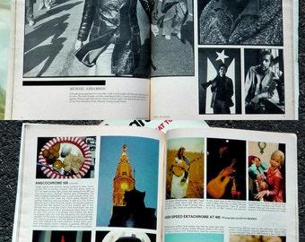 35mm photography Ziff-Davis 60s 70s boho illustrated art magazines instructional DIY guides camera equipment film darkroom articles lot of 4