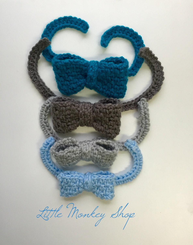 Crochet Baby Tie Pattern Free : Bow Tie Crochet PATTERN Boys Bow Tie Crochet Pattern 4