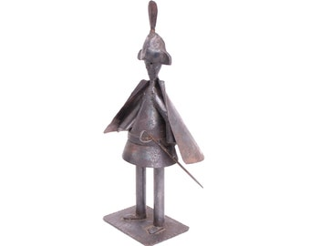 mid century modern matador hand wrought metal statue sculpture art figure spain spanish 1950s 1960s