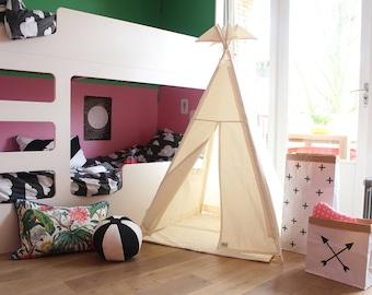 Teepee Tent - Plain cotton indoor play teepee tent