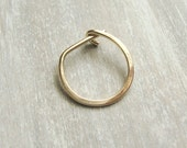 Men's Earring, Hoop, Gold Filled Single Earring - Golden Single Guy Earring
