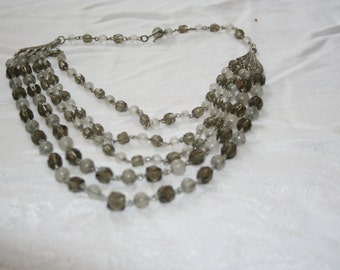 5 Strand/ Beaded/ Necklace