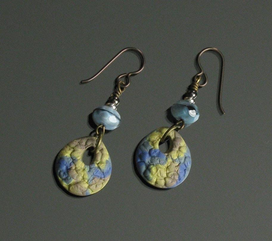 Rustic Tribal Earrings Ethnic Jewelry Niobium Earrings