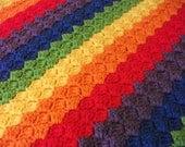 Diagonal Rainbow Baby Blanket