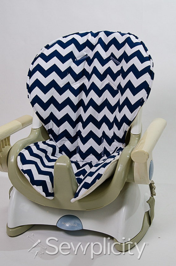 fisher price space saver high chair cover chevron navy - Space Saving High Chair