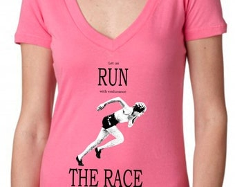 Popular items for bible verse t shirts on etsy for Hot pink running shirt