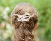 Chloe Silver Wedding comb with vine and crystal detail