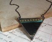 Movie Film Bib Jewelry Triangle Necklace