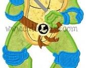 Teen Turtle Blue Guy Applique Machine Embroidery Design (DIGITAL ITEM)