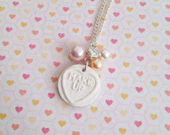 Love Heart Sweetie Necklace White