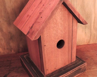 Teak Birdhouse Keepsake Box