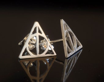 Deathly Hallows Earrings (Center or Top Post)