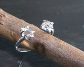 Herkimer Diamond Silver Ring, Crystal Quartz Ring, Adjustable Ring, Healing Crystal Jewelry