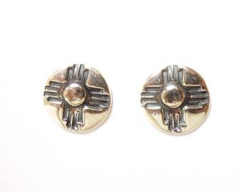 Sterling zia post earrings, southwest jewelry, western accessories