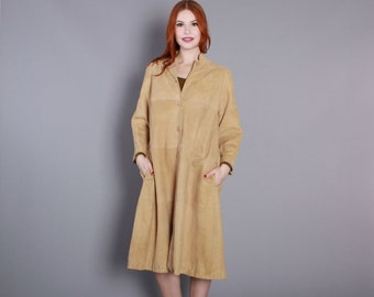 60s SUEDE Swing  JACKET / 1960s Buttery Soft Tan LEATHER Coat S