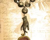Vintage Coin Purse Assemblage Necklace