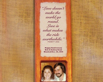 Anniversary Gift - Personalized photo plaque