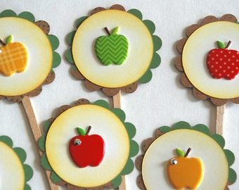 Apple of my Eye- Cupcake Toppers
