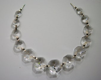 11 Inches of Graduated Chandelier Crystals Bead Garland Chain - ASFOUR FULL LEAD Crystal - (s-19)