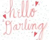hello darling.