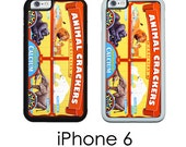 iPhone 6S 6 or PLUS Animal Cracker  Animal Cookies  Zoo Animals Phone Case Your Choice of Trim Hard, Rubber or Tough Cases