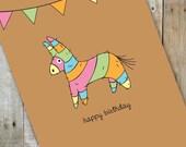 Happy Birthday Pinata Card
