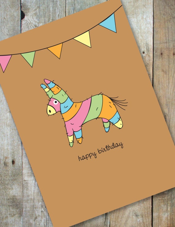 Happy Birthday Pinata Card