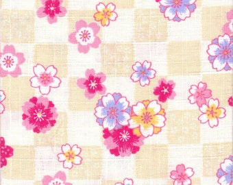 Cherry Blossom Material - 100% Cotton - 30cm x 50cm (11.8 x 19.7 inches) - Reference 13