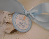 First Communion Tags - Boy Baptism Tags  - Holy Communion Favor Tags 2 inch - customizable - 20
