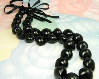 Native Treasure - Black Kukui Nut Necklace