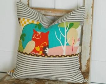Farmhouse Pillows, Farmhouse Chic Pillows, Shabby Chic Pillows, Ticking Throw Pillows, Cottage Chic Pillows, Ticking Stripe Pillows, Ticking