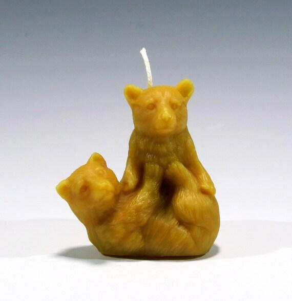 Beeswax Candle Bear Cub