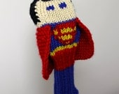 Superman, Golf Headcover, Golf Club Cover, Golf Head Cover, Knit Golf Club Cover, Knitted Golf Head Cover, Gifts For Men, Golf Gifts