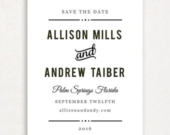 Printable Save the Date Template | INSTANT DOWNLOAD | Nightlife | Word or Pages Mac & PC | 4.25x5.5 | Any Colors