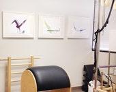 "LARGE Yoga Pilates Art Print - 16"" x 20"""