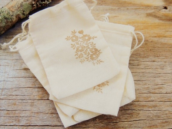 Wedding Favor Bags Muslin Bag Cotton Drawstring Gift Bags Rustic ...