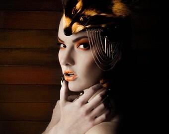 Earth Warrior Creature of the Night Fascinator/Small Headdress OOAK