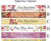 Etsy Banners - Etsy Shop Banners - Floral Etsy Mother's Day - Etsy Banners Selections - 1