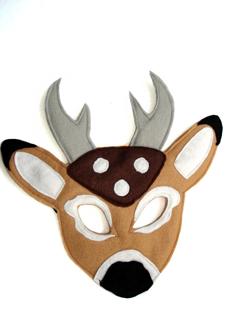 Children's Woodland Animal DEER Felt Mask