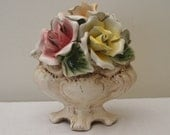 Vintage Roses Capodimonte Centerpiece - Made in Italy