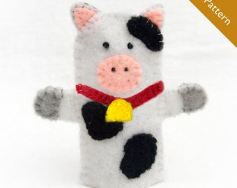 Cow pattern, cow finger puppet pattern, puppet pattern, cow finger puppet, cow
