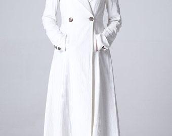 White linen jacket women jacket (1165)