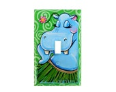Hula Hippo Switch Plate Cover